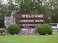 Cherokee Indian Reservation sign, NC.jpg