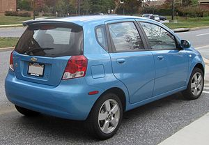 Chevrolet Aveo - Chevrolet Aveo LT five-door (US)