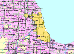 Geography of Chicago - City limits of Chicago.