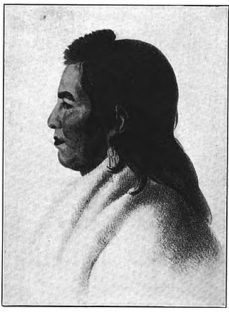 Lewis and Clark Expedition - Painting of Mandan Chief Big White, who accompanied Lewis and Clark on their return from the expedition