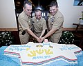 Chiefs celebrate 1221st anniversary of CPO rank. (13567121313).jpg