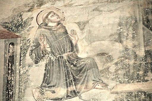 Chiesa San Francesco (Lucignano), San Francesco riceve le stimmate