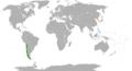 Chile North Korea Locator.png