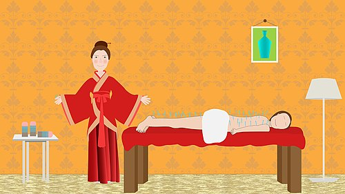 Chinese accupuncture massage