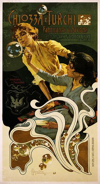Adolfo Hohenstein - Adolfo Hohenstein: 1899 advertising poster