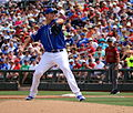 Chris Young delivers a pitch (25083459314).jpg