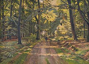 Poul Simon Christiansen - Image: Christensen Skovvej ved Dyrnæs 1915