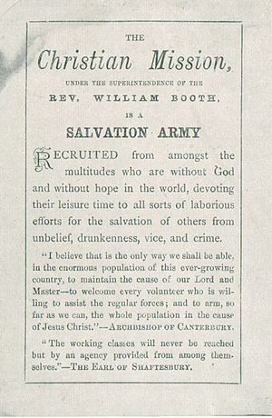 William Booth - The Christian Mission becomes The Salvation Army (May 1878)