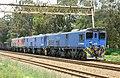 Chrome ore train headed by Transnet Class 10-054, 10-051 and 10-166 at Delmas on the Sentrarand - Ogies line. (16333748284).jpg