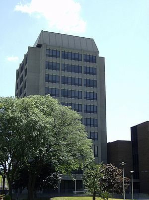 University of Windsor - Lambton Tower on campus.