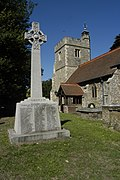 Church of S. Peter & S. Paul, Harlington & war memorial, late August 2013.jpg