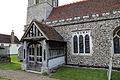 Church of St Mary Matching Essex England - porch and south aisle from southeast.jpg