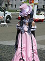 Ciel Phantomhive in pink dress cosplayer at 2010 NCCBF 2010-04-18 1.JPG
