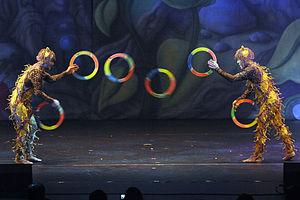 Juggling ring - Image: Cirque Dreams Misawa 9