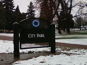 English: City Park Denver sign.