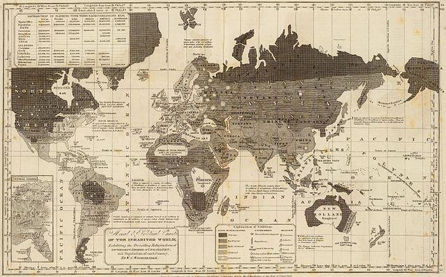 World Map, 1821