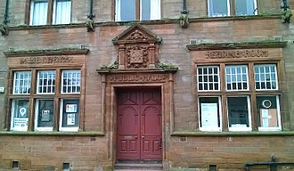 Clackmannan - Clackmannan Public Hall, Main Street with Library and Reading Room