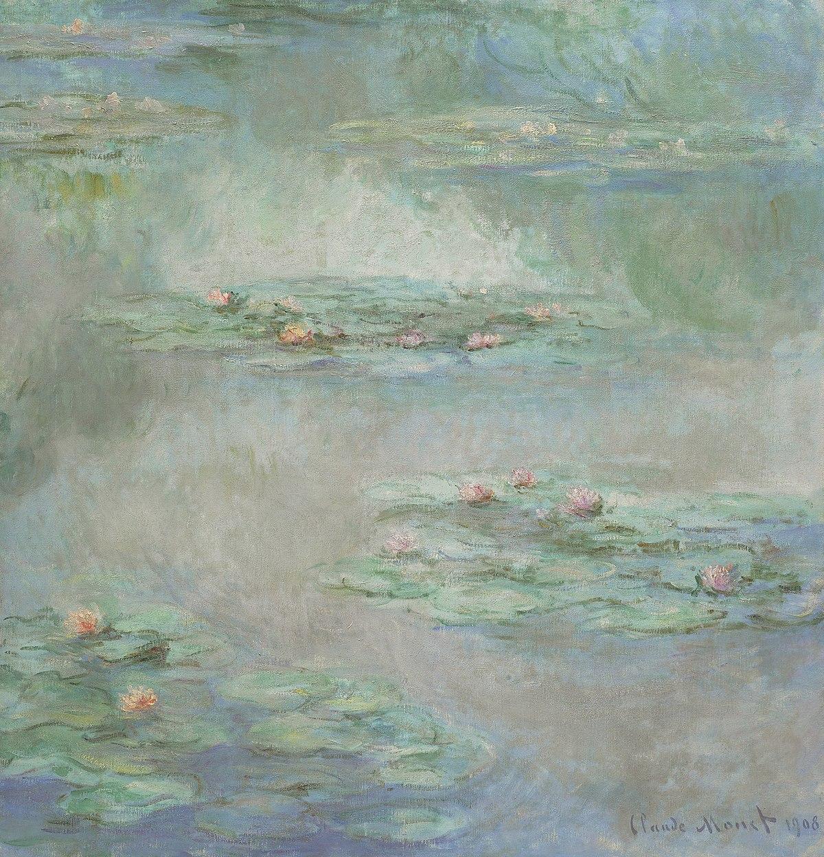 ファイル:Claude Monet - Waterlilies - Nympheas (1908).jpg - Wikipedia