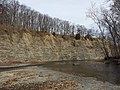 Cleveland Shale exposure at Fort Hill along Rocky River, Cleveland, OH.jpg
