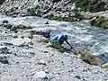 Closeup of Keith and wine bottle Fitz Roy Trail Parque Nacional Los Glaciares El Chalten Argentina.jpg