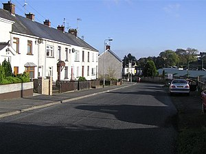 1992 Coalisland riots - One of the roads to Coalisland centre, which was blocked by British paratroopers on 12 May 1992