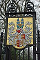 Coat of arms, Oldlands Hall gateway - geograph.org.uk - 1751547.jpg