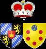 Coat of arms of Anna Maria Lusia de' Medici as Electress Palatine.png