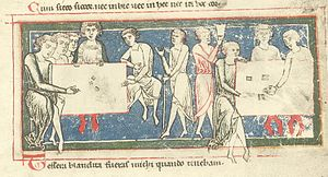 Drinkers Mass - Drinking dice players, from the Carmina Burana