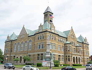 Coles County, Illinois - Image: Coles County, IL, USA courthouse
