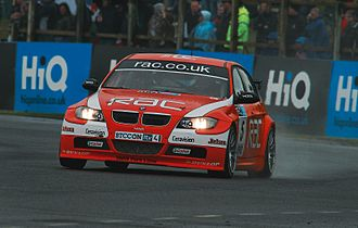 Colin Turkington - Turkington driving the Team RAC-run BMW at Croft in 2008, where he won two of the three races.
