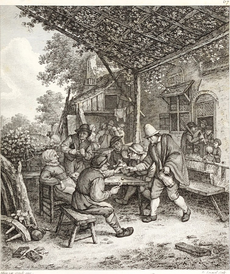 A group of peasants playing cards