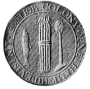 Flag and seal of New Hampshire - Colony Seal
