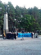 Commemoration of Nazi-Soviet Pact, Alytus, 23 Aug 2013