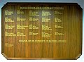 Commemorative plaque of first Commemorative plaque of recipients of BBC Radio's Comedy Writers' Award, a.k.a. the Peter Titheradge, or Contract Writers', Award recipients of BBC Radio's Comedy Writers' Award.jpg