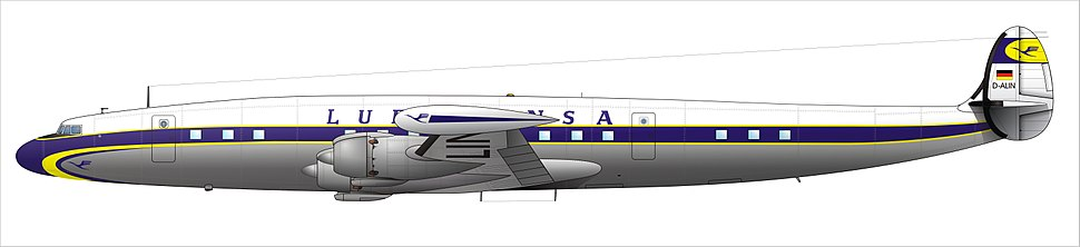 Lockheed Super Constellation of Lufthansa.