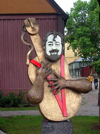 Cornelis Vreeswijk - Sculpture of Cornelis Vreeswijk, as displayed in Cornelis Park in Stockholm