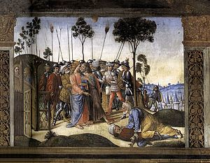 Last Supper (Rosselli) - The Arrest of Christ.