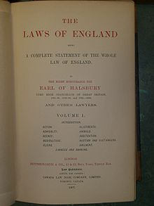 Halsbury's Laws of England - Wikipedia, the free encyclopedia