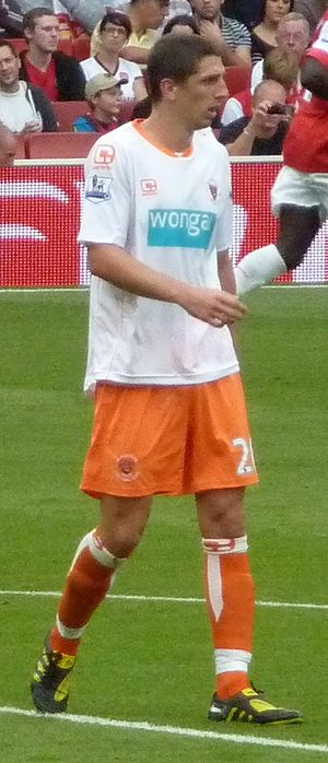 Craig Cathcart - Cathcart playing for Blackpool in 2010