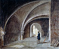 Crypt under the Church of St James in the Wall, Wood Street Square, City of London.jpg