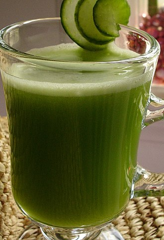 Vegetable juice - Cucumber, celery and apple juice