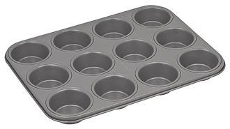 Cupcake - A cupcake pan, made of tinned steel.
