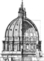 Cupola di S Pietro, the dome with its ruptures (Character of Renaissance Architecture).png