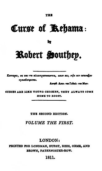 Curse of Kehama - Title page to the 1811 second edition