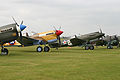 Curtiss Hawk line-up at Flying Legends 2011 (6992523055).jpg