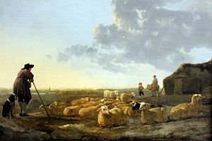 Aelbert Cuyp - Herd of Sheep at Pasture, 1650, Städelsches Kunstinstitut
