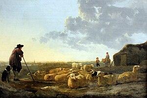 Aelbert Cuyp - Herd of Sheep at Pasture, 1650, Städelsches Kunstinstitut