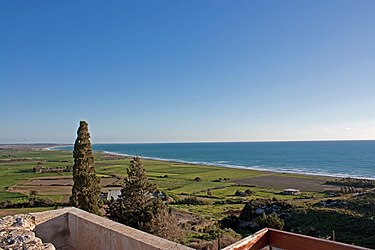 Cyprus coast from Kourion theatre.jpg