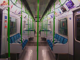 London Underground D78 Stock - Interior after refurbishment