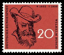 DBP 50. Todestag Wilhelm Busch 20 Pfennig 1958.jpg